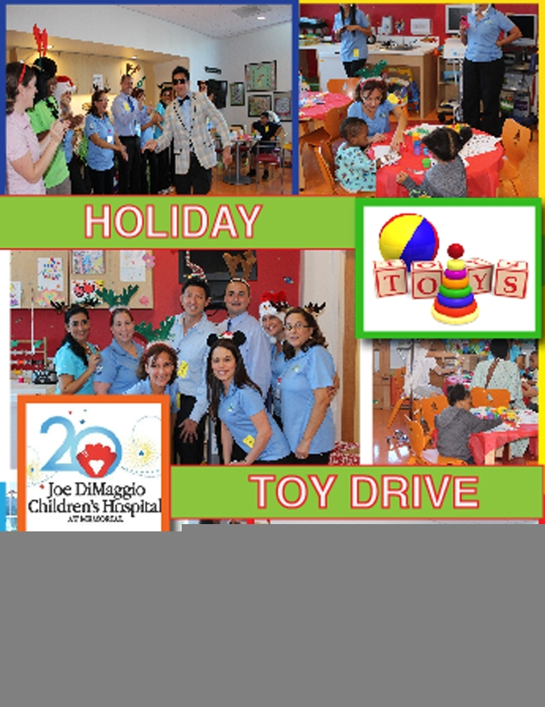 Holiday Toy Drive for Joe DiMaggio's Children's Hospital